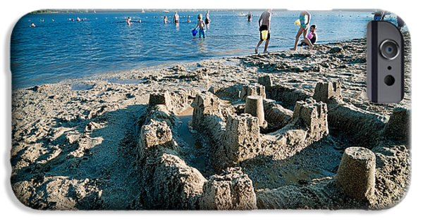 Sand Castles Photographs iPhone Cases - Sandcastle on the Beach iPhone Case by Amy Cicconi