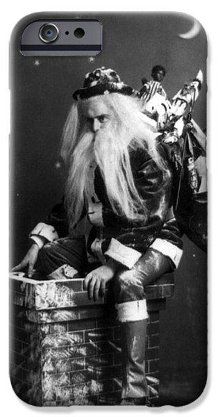 St Nicholas iPhone Cases - Santa Claus 1900 iPhone Case by Photo Researchers