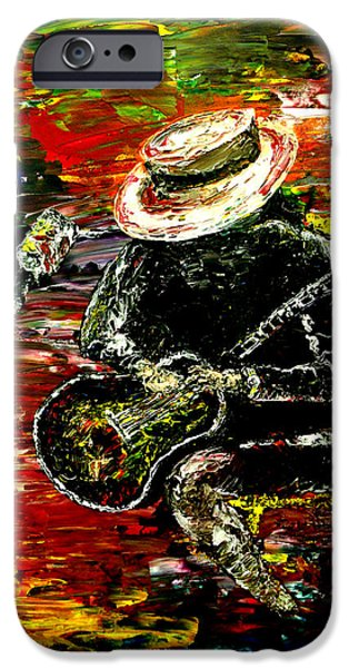 Pallet Knife Paintings iPhone Cases - Santana  iPhone Case by Mark Moore