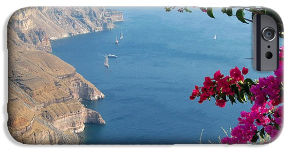 White House iPhone Cases - Santorini Beautiful View iPhone Case by Alexandros Daskalakis