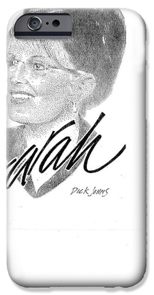 Tea Party Drawings iPhone Cases - Sarah Palin iPhone Case by Richard Johns