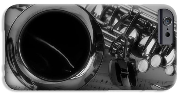Recently Sold -  - Sheets iPhone Cases - Saxophone iPhone Case by Mountain Dreams