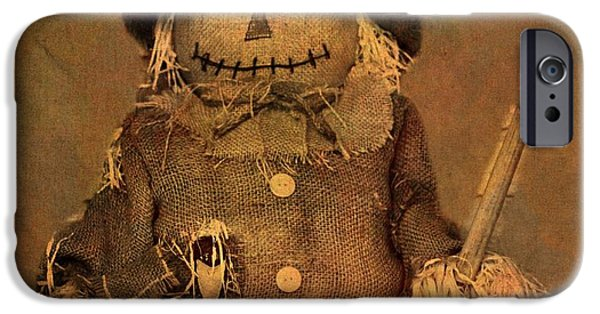 Haunted House iPhone Cases - Scarecrow iPhone Case by Dan Sproul