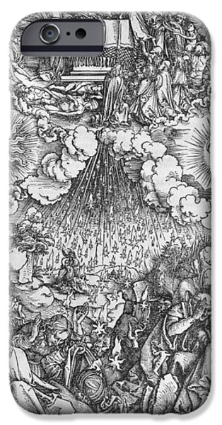 Martyr iPhone Cases - Scene from the Apocalypse iPhone Case by Albrecht Durer or Duerer