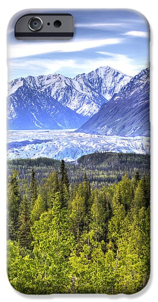 Matanuska iPhone Cases - Scenic View Of Matanuska Glacier As iPhone Case by Michael Criss