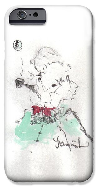 Scrooge iPhone Case by Laurie D Lundquist