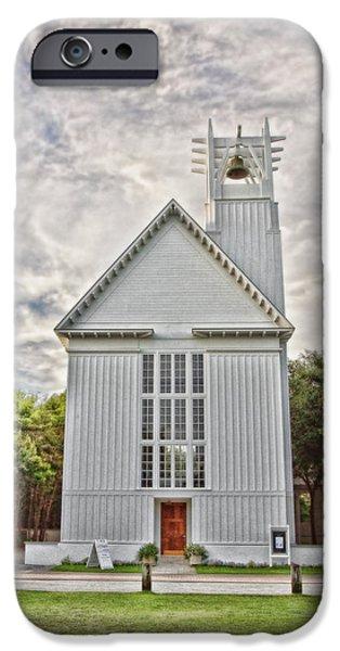 Wedding Bells iPhone Cases - Seaside Chapel iPhone Case by Scott Pellegrin