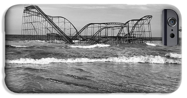 Jetstar Photographs iPhone Cases - Seaside Heights - Jet Star Roller Coaster iPhone Case by Niday Picture Library