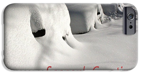 Snowbank iPhone Cases - Seasons Greetings iPhone Case by Stuart Litoff