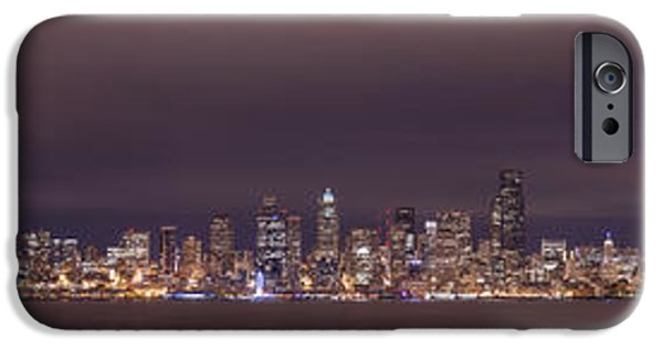 Safeco iPhone Cases - Seattle Skyline iPhone Case by Dustin  LeFevre