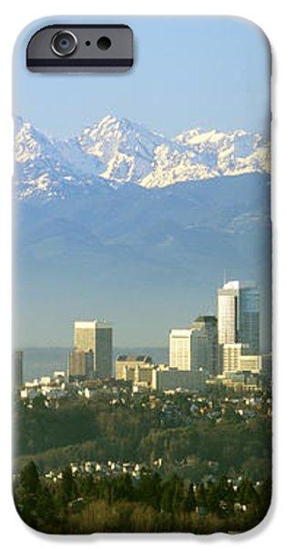 Seattle Skyline iPhone Case by King Wu