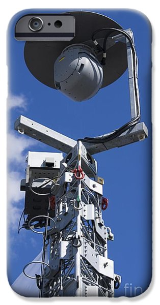 Civil Liberties iPhone Cases - Security Camera On Tower iPhone Case by Mark Williamson