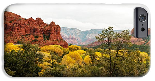 Cathedral Rock iPhone Cases - Sedona Panorama iPhone Case by Tam Ryan