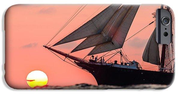 Sailboat Ocean iPhone Cases - Sedov EX. Kommodore Johnsen Four-masted barqu iPhone Case by Maslyaev Yury