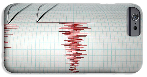 Electronic iPhone Cases - Seismograph Earthquake Activity iPhone Case by Allan Swart