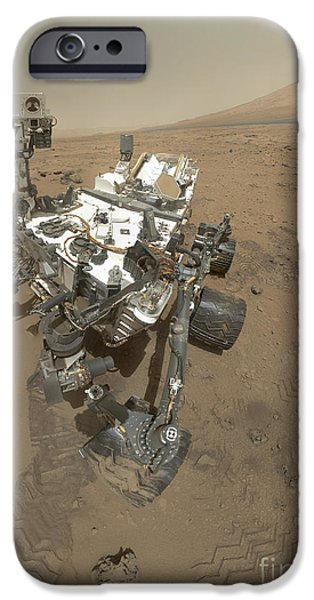 Self Discovery iPhone Cases - Self-portrait Of Curiosity Rover iPhone Case by Stocktrek Images
