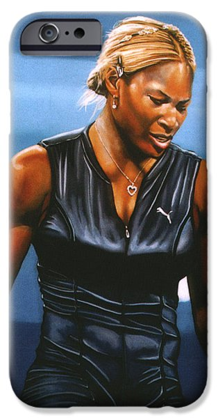 Atp World Tour iPhone Cases - Serena Williams iPhone Case by Paul  Meijering