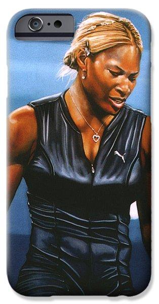 Serena Williams iPhone Case by Paul  Meijering