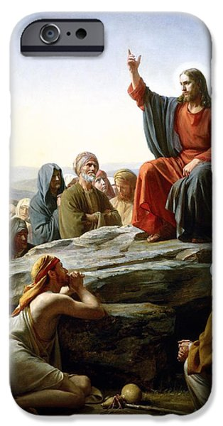 Sermon On The Mount iPhone Case by Carl Bloch
