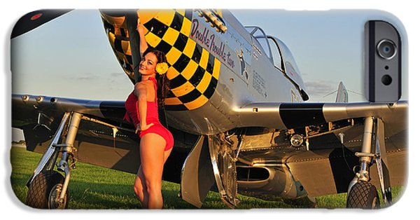 Recently Sold -  - World War One iPhone Cases - Sexy 1940s Style Pin-up Girl Posing iPhone Case by Christian Kieffer