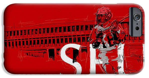 Summer Sports Paintings iPhone Cases - SFU Art iPhone Case by Catf