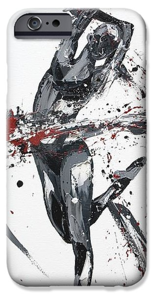Ballet Dancers Paintings iPhone Cases - Shadow iPhone Case by Penny Warden