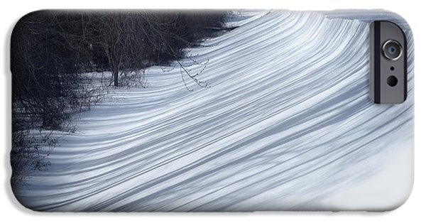 Snowy Photographs iPhone Cases - Shadows   iPhone Case by HD Connelly