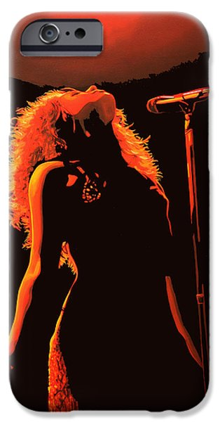 Celebrities Art iPhone Cases - Shakira iPhone Case by Paul  Meijering