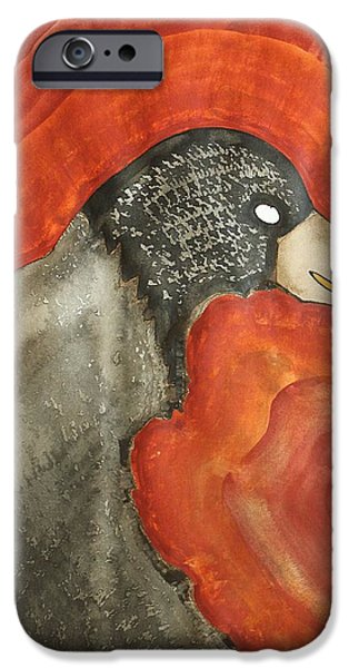 Torsion iPhone Cases - Shaman original painting iPhone Case by Sol Luckman