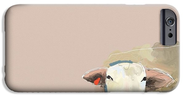 Child iPhone Cases - Sheep iPhone Case by Cathy Walters