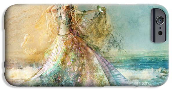 Sea iPhone Cases - Shell Maiden iPhone Case by Aimee Stewart