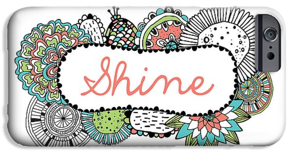 Graphic Design iPhone Cases - Shine Part 2 iPhone Case by Susan Claire