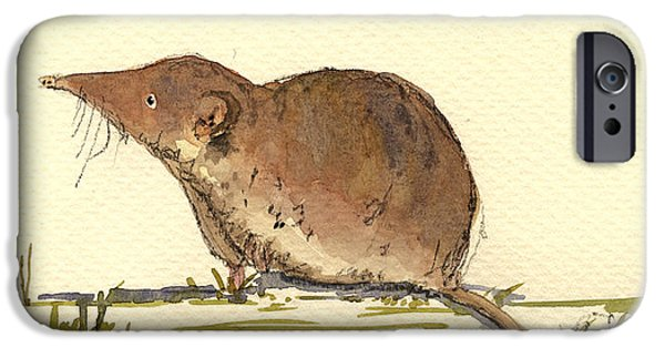 Mouse iPhone Cases - Shrew iPhone Case by Juan  Bosco
