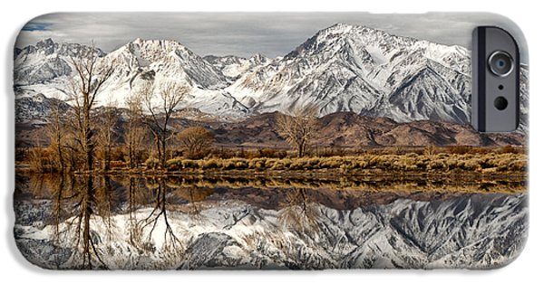Winter Mornings iPhone Cases - Sierra Reflections iPhone Case by Cat Connor