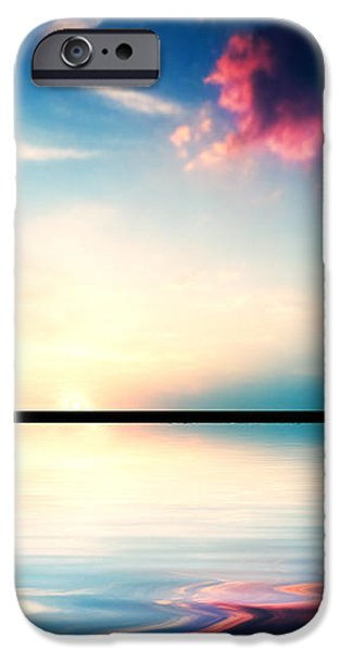 Silhouette of man running at sunset iPhone Case by Michal Bednarek