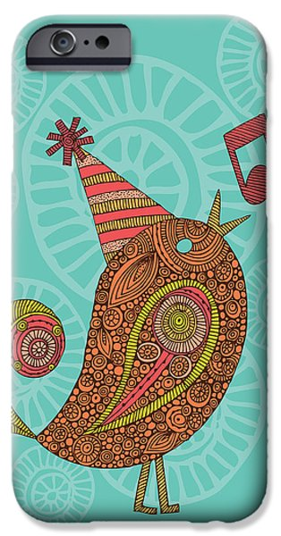 Floral Digital Art Digital Art Photographs iPhone Cases - Singing Bird iPhone Case by Valentina Ramos