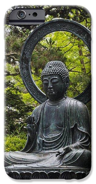 Buddhist iPhone Cases - Sitting Buddha iPhone Case by Adam Romanowicz