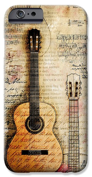 Worship iPhone Cases - Six String Sages iPhone Case by Gary Bodnar