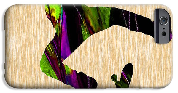Skateboard iPhone Cases - Skateboarder Painting iPhone Case by Marvin Blaine