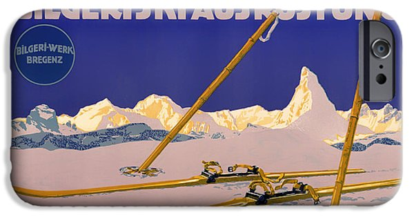 1910s Poster Art iPhone Cases - Ski Austria 1910 iPhone Case by Mountain Dreams