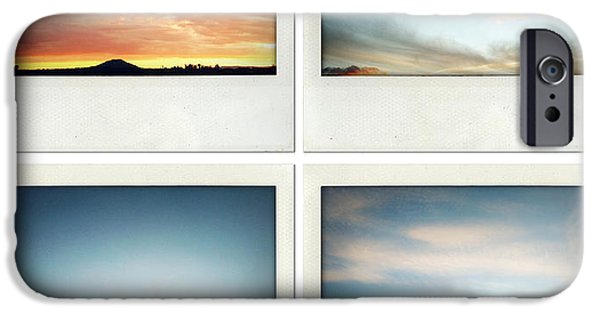 Cloudscape Photographs iPhone Cases - Skies iPhone Case by Les Cunliffe