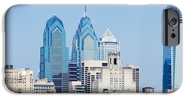Construction Site iPhone Cases - Skyscrapers In A City, Philadelphia iPhone Case by Panoramic Images
