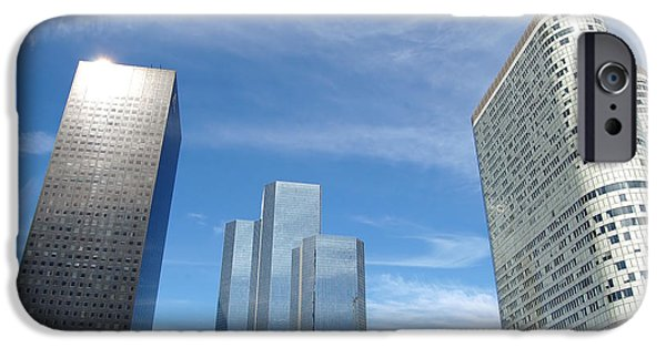 Manhatan iPhone Cases - Skyscrapers iPhone Case by Michal Bednarek