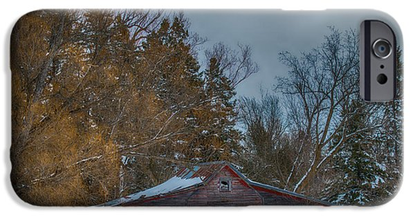 Old Barns iPhone Cases - Small Barn iPhone Case by Paul Freidlund
