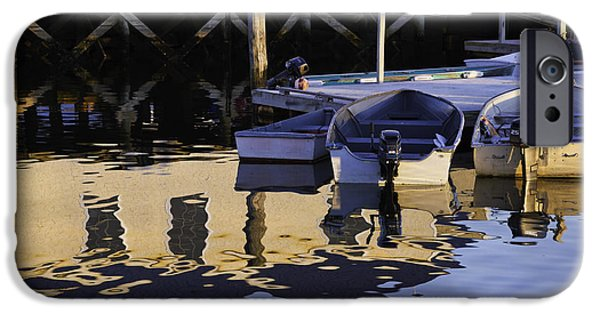 East Village iPhone Cases - Small Boats and Dock in Port Clyde Maine iPhone Case by Keith Webber Jr