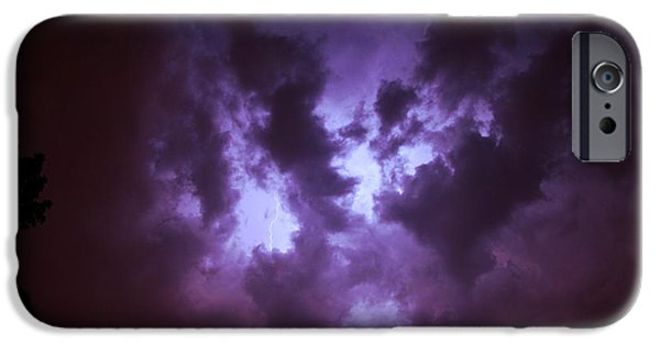Nebraska iPhone Cases - Small But Eruptive Cell North of Kearney iPhone Case by Dale Kaminski