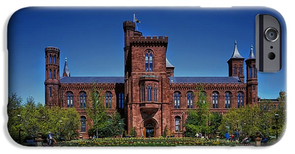 Smithsonian Photographs iPhone Cases - Smithsonian Castle - Washington D C iPhone Case by Mountain Dreams