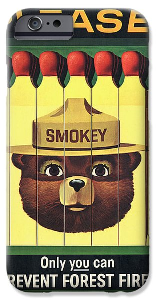 Vector Posters iPhone Cases - Smokey iPhone Case by Gary Grayson