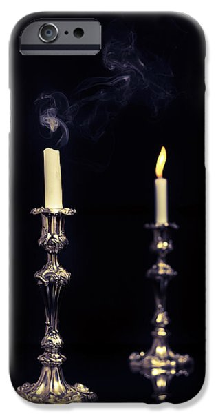 Smoking Candle iPhone Case by Amanda And Christopher Elwell