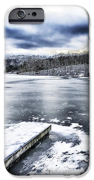 Snow Big Ditch Lake iPhone Case by Thomas R Fletcher